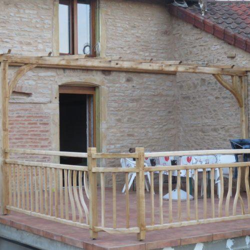 balustrade bois tordu